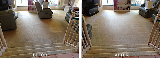 Carpet Cleaning near the Gold Coast - Before and After